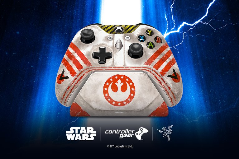 Star Wars: Squadrons Controller Gear Wireless Controller + Pro Charging Stand for Xbox