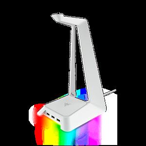 Gaming headphone stand with USB ports and Razer Chroma lighting