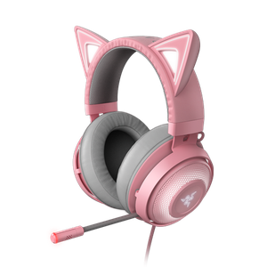 Casque USB avec oreilles de chat compatible Chroma