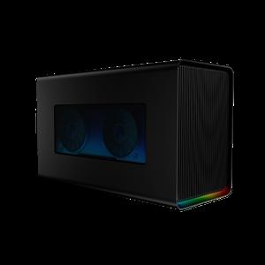 External graphics enclosure with gaming-grade desktop power, ports, and Razer Chroma.