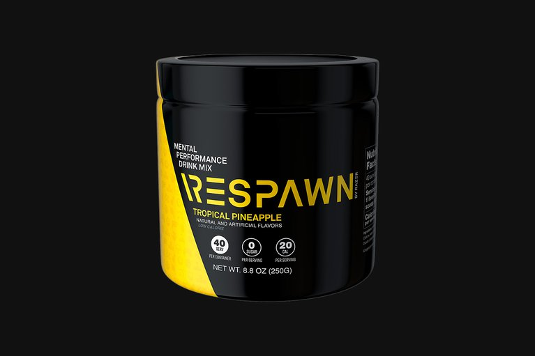 RESPAWN - Mental Performance Drink Mix - Tropical Pineapple - Tub (40 Servings)