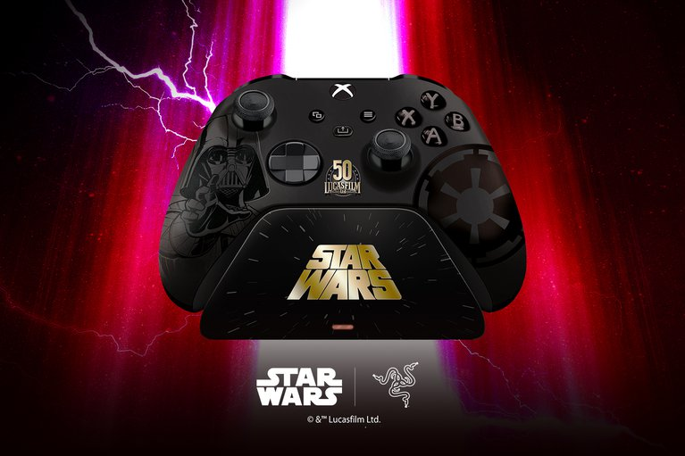 Limited Edition Darth Vader Razer Wireless Controller + Quick Charging Stand for Xbox