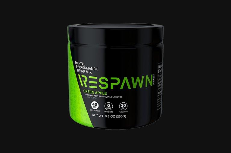 RESPAWN - Mental Performance Drink Mix - Green Apple - Tub (40 Servings)