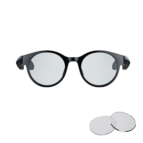 Razer Anzu Smart Glasses Small Round Frame Bundle with Blue Light Filter or Polarized Lenses