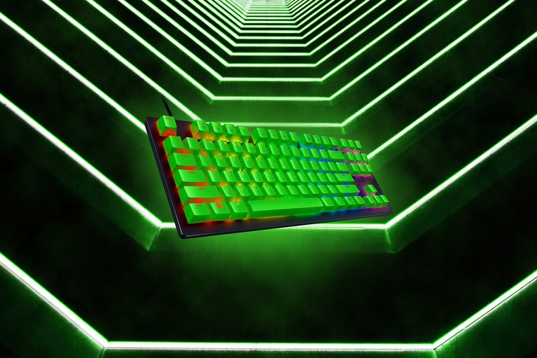 Razer Huntsman Tournament Edition - US - Green Keycaps