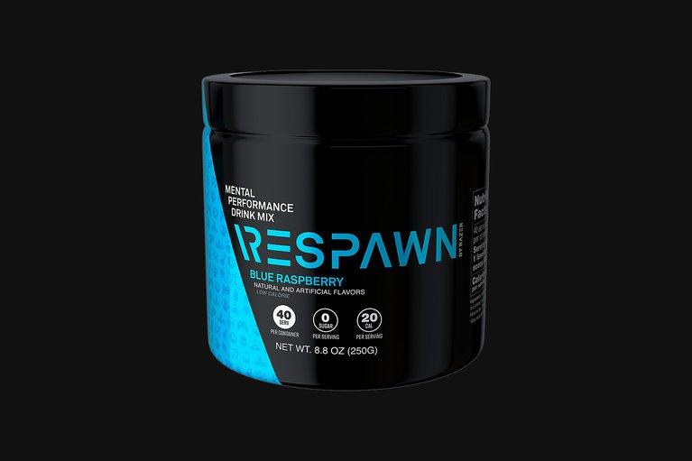 RESPAWN - Mental Performance Drink Mix - Blue Raspberry - Tub (40 Servings)