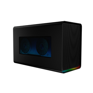 External graphics enclosure with gaming-grade desktop power, ports, and Razer Chroma.